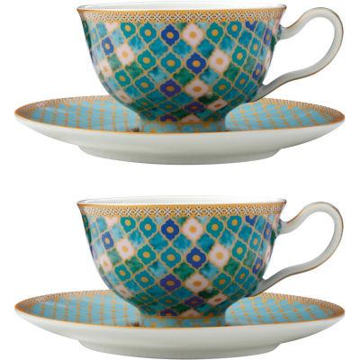 Maxwell & Williams Teas & Cs Kasbah Espresso Cup & Saucer Set of 2 Mint