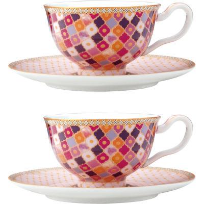 Maxwell & Williams Teas & Cs Kasbah Espresso Cup & Saucer Set of 2 Rose