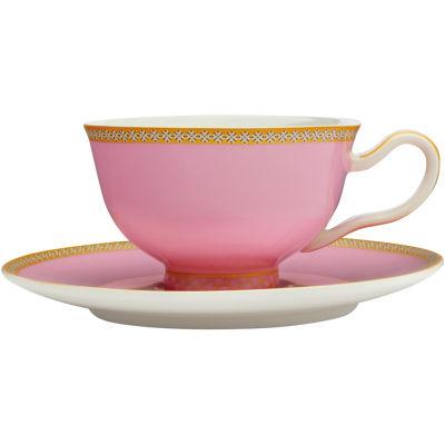Maxwell & Williams Teas & Cs Kasbah Teacup & Saucer Hot Pink