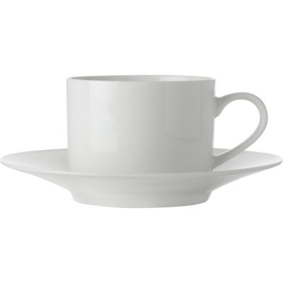 Maxwell & Williams White Basics Teacup & Saucer Tall