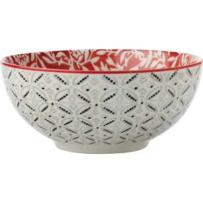 Maxwell & Williams Boho Noodle Bowl 18cm Damask Red
