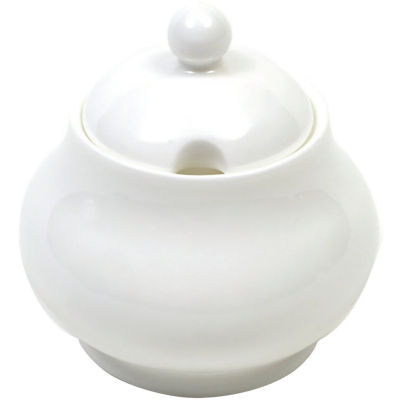 Maxwell & Williams Cashmere White Covered Sugar Bowl Traditional