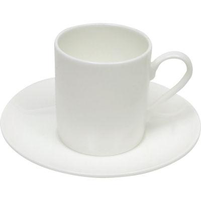 Maxwell & Williams Cashmere White Espresso Cup & Saucer Straight