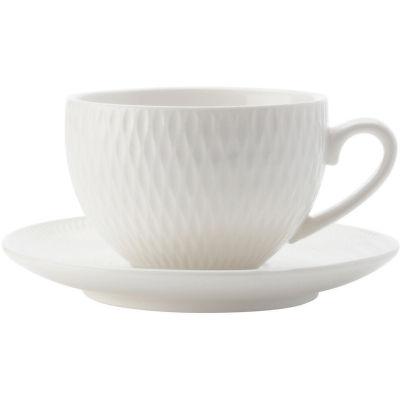 Maxwell & Williams White Basics Diamonds Espresso Cup & Saucer