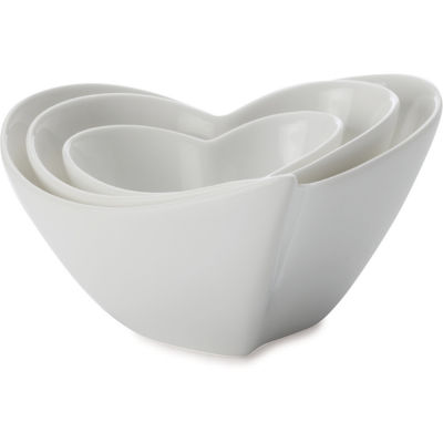 Maxwell & Williams White Basics Dip Bowl Heart Set Of 3
