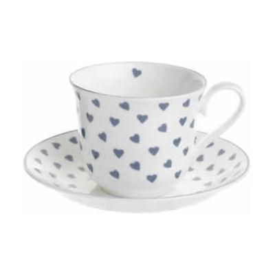 Nina Campbell Blue Heart Teacup & Saucer