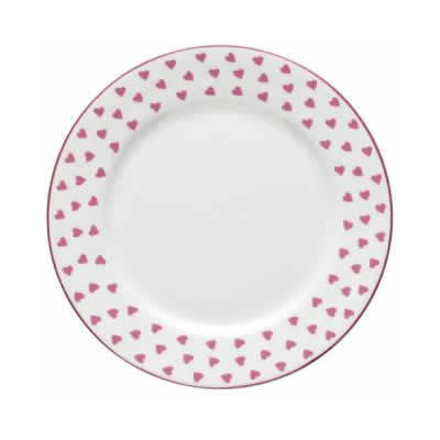 Nina Campbell Pink Heart Plate 22cm