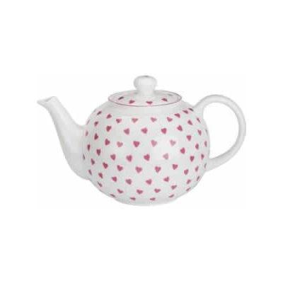 Nina Campbell Pink Heart Teapot Large