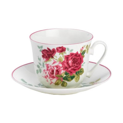 Nina Campbell Rosa Alba Breakfast Cup & Saucer