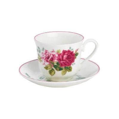 Nina Campbell Rosa Alba Teacup & Saucer