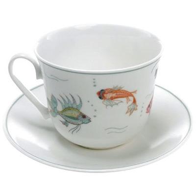 Nina Campbell Teaware Aquarium Breakfast Cup & Saucer