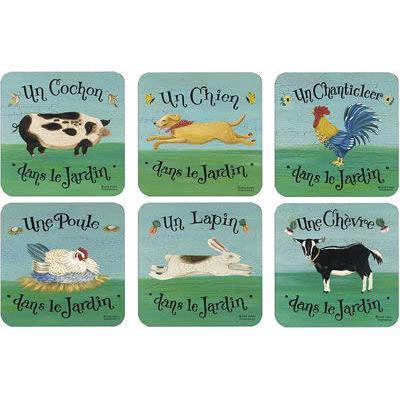 Pimpernel Animals Dans Le Jardin Coasters Set of 6