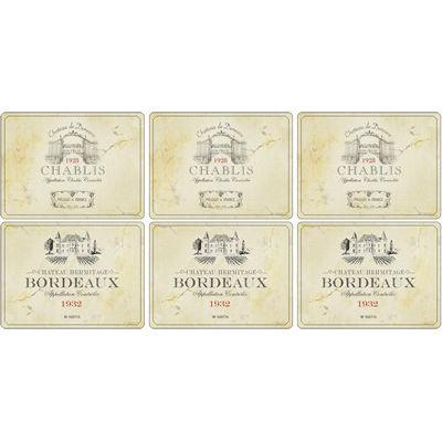 Pimpernel Food and Drink Vin De France Placemats Set of 6