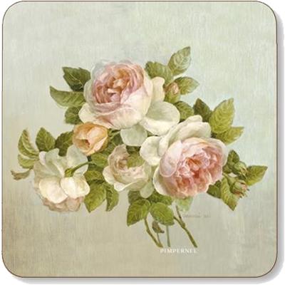 Pimpernel Fruits and Floral Antique Rose Coasters Set of 6