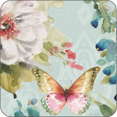 Pimpernel Fruits and Floral Colourful Breeze Coasters Set of 6