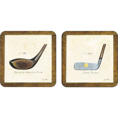 Pimpernel Scenic and Decorative A History Of Golf Coasters Set of 6
