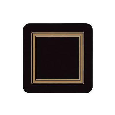 Pimpernel Scenic and Decorative Classic Black Coasters Set of 6