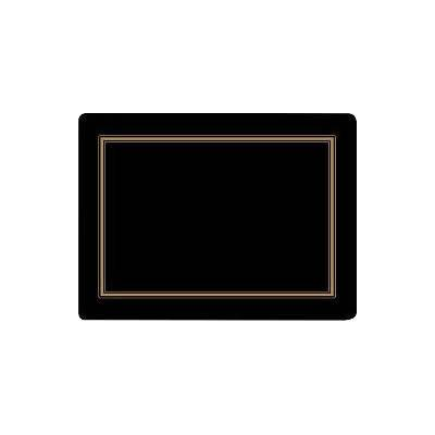 Pimpernel Scenic and Decorative Classic Black Placemats Set of 6