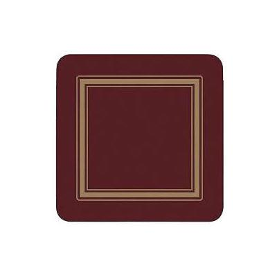 Pimpernel Scenic and Decorative Classic Burgundy Coasters Set of 6