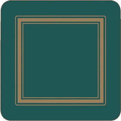 Pimpernel Scenic and Decorative Classic Emerald Coasters Set of 6