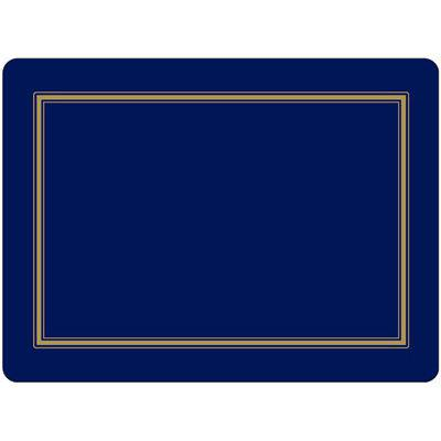 Pimpernel Scenic and Decorative Classic Midnight Large Placemats Set of 4