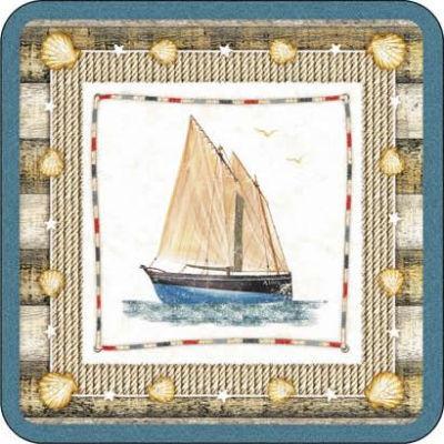 Pimpernel Scenic and Decorative Coastal Breeze Coasters Set of 6