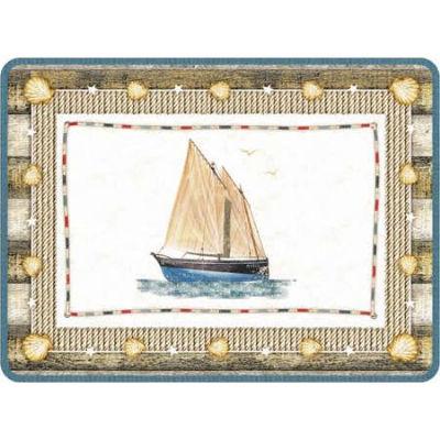 Pimpernel Scenic and Decorative Coastal Breeze Placemats Set of 6