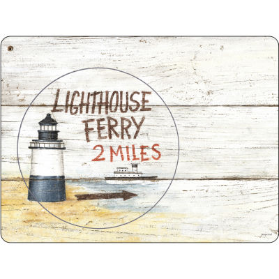 Pimpernel Scenic and Decorative Coastal Signs Placemats Set of 6