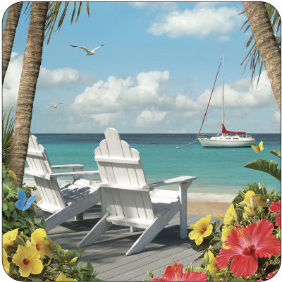 Pimpernel Scenic and Decorative In The Sunshine Coasters Set of 6