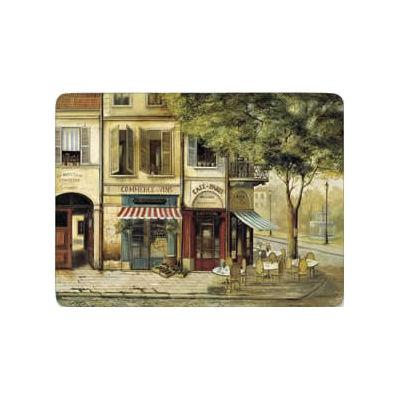 Pimpernel Scenic and Decorative Parisian Scenes Large Placemats Set of 4