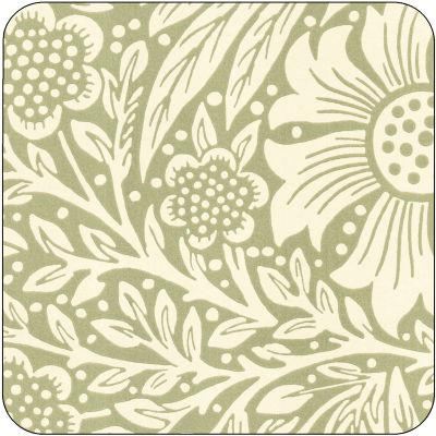 Pimpernel William Morris Marigold Green Coasters Set of 6