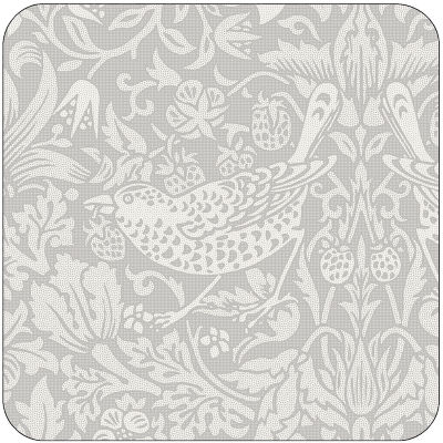 Pimpernel William Morris Pure Morris Strawberry Thief Grey Coasters Set of 6
