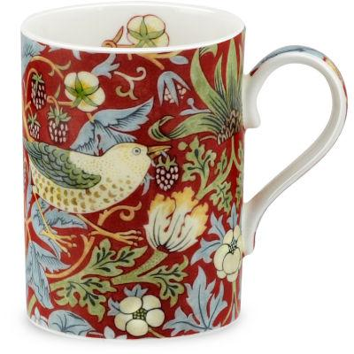 Pimpernel William Morris Strawberry Thief Mug Crimson & Slate