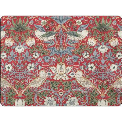Pimpernel William Morris Strawberry Thief Red Placemats Set of 6