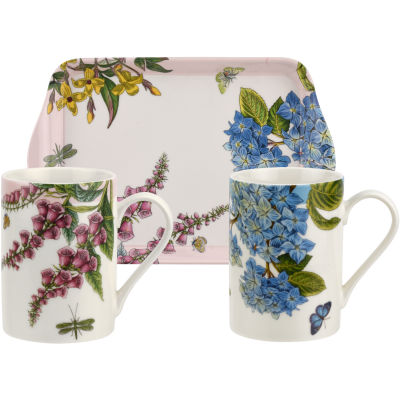Portmeirion Botanic Garden Mug & Tray Set Terraces