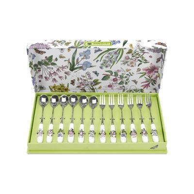 Portmeirion Botanic Garden Pastry Fork & Teaspoon Set