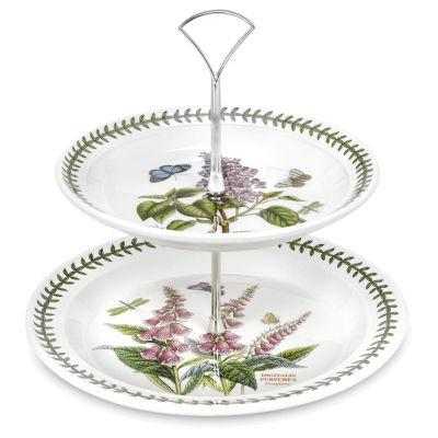 Portmeirion Botanic Garden Two-Tier Cake Stand