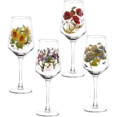 Portmeirion Botanic Garden Wine Glass Painted Set of 4