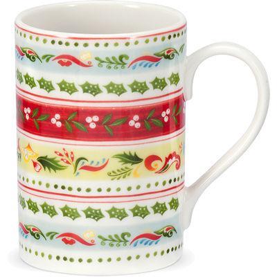 Portmeirion Christmas Wish Mug Stripes