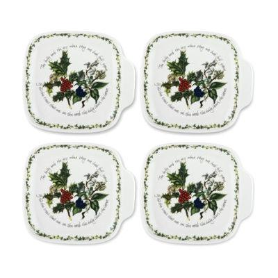 Portmeirion The Holly and The Ivy Canape Dishes Set of 4