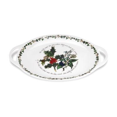 Portmeirion The Holly and The Ivy Oval Handled Platter 45cm
