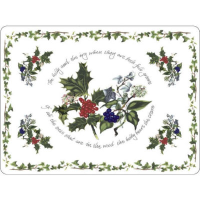 Portmeirion The Holly and The Ivy Placemats Set of 4
