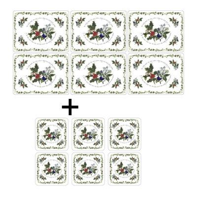 Portmeirion The Holly and The Ivy Placemats Set of 6 & Coasters Set of 6
