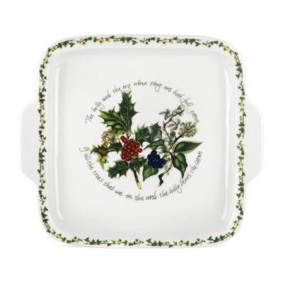 Portmeirion The Holly and The Ivy Square Handled Cake Plate