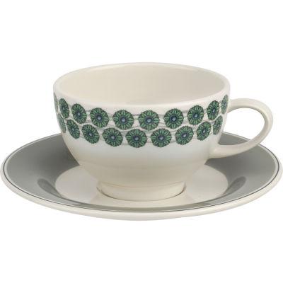 Portmeirion Westerly Tea Cup & Saucer Grey
