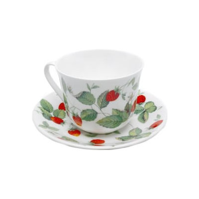 Roy Kirkham Alpine Strawberry Breakfast Cup & Saucer