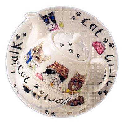 Roy Kirkham Cats & Dogs Cat Animal Fashion Tea For One