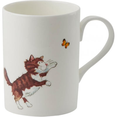 Roy Kirkham Cats Amp Dogs Cats Lucy Mug Tabby Amp Butterfly