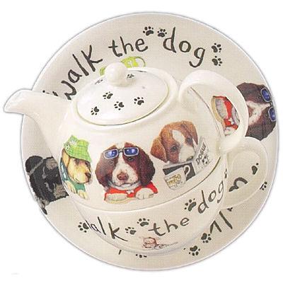Roy Kirkham Cats & Dogs Dog Animal Fashion Tea For One
