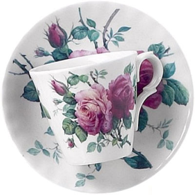 Roy Kirkham English Rose Espresso Cup & Saucer
